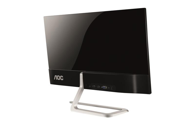 AOC представила мониторы с асимметричной подставкой