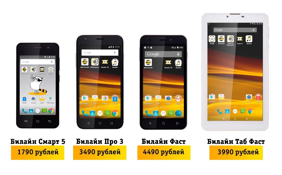 «Билайн» выпускает серию планшетов и смартфонов «Фаст»