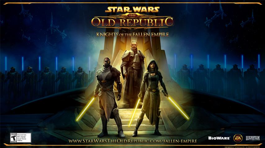 Вышло дополнение Knights of the Fallen Empire для игры Star Wars: The Old Republic