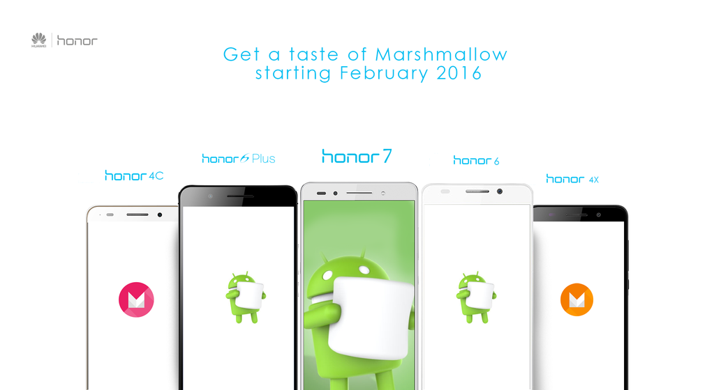 Смартфоны Huawei Honor начнут обновляться до Android 6.0 Marshmallow в феврале 2016 года