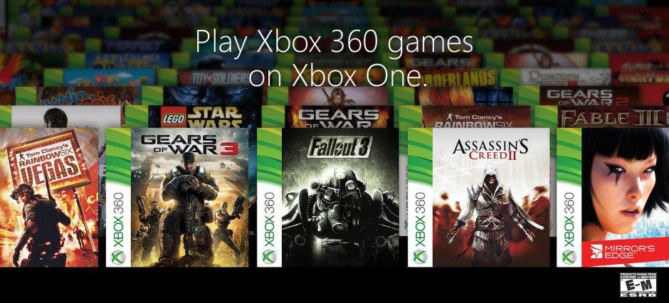 Microsoft назвала первую сотню совместимых с Xbox One игр для Xbox 360