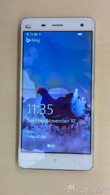 Xiaomi Mi4 на базе Windows 10 Mobile дебютирует в ноябре