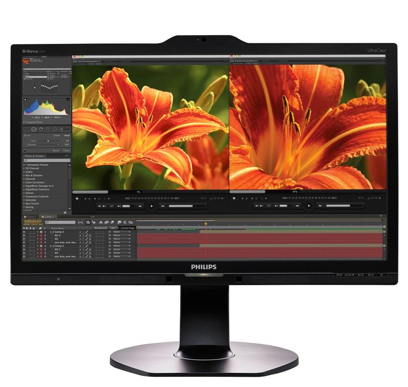 23,8-дюймовый монитор Philips 241P6VPJKEB поддерживает разрешение 4K UHD