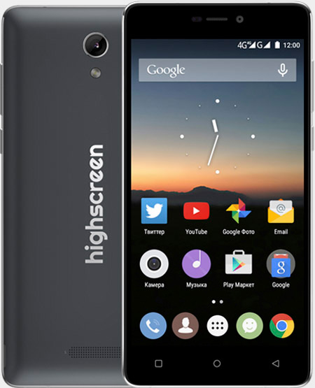Смартфон Highscreen Power Five Pro с мощной батареей на 5000 мАч