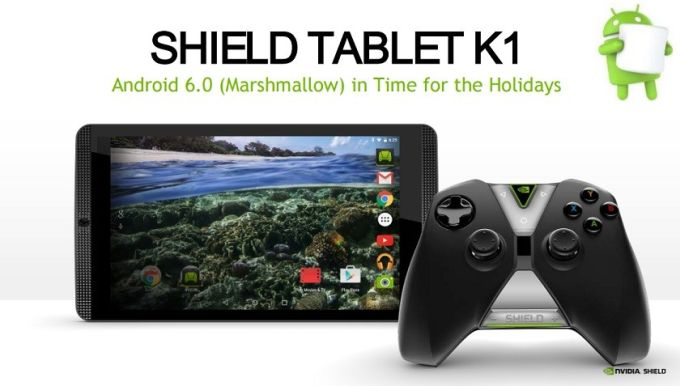 NVIDIA выпустила Android 6.0 Marshmallow для планшета Shield Tablet K1