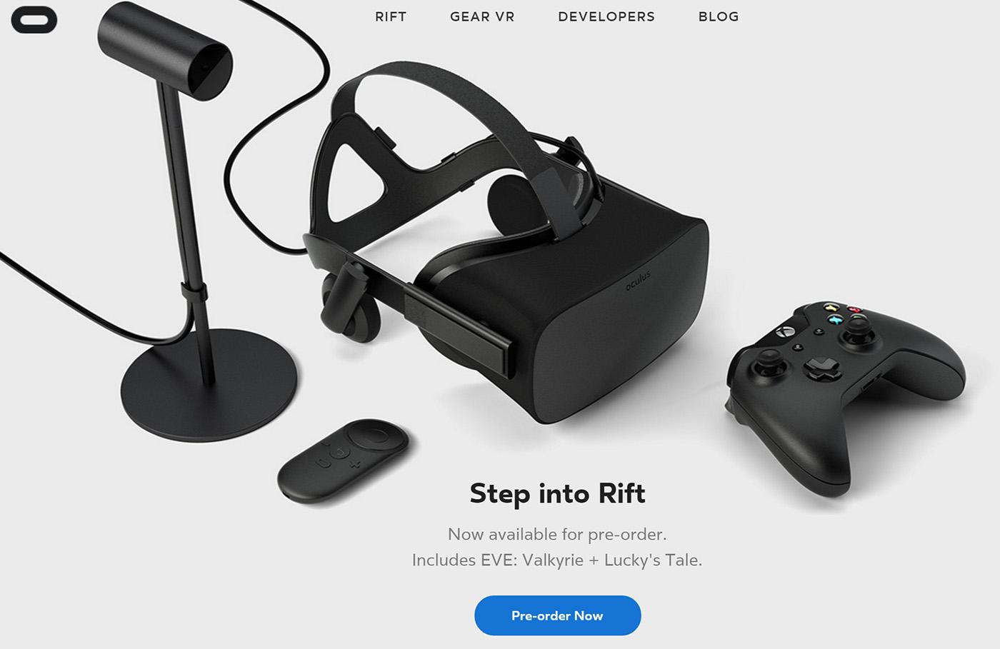 Начался предварительный заказ шлема виртуальной реальности Oculus Rift