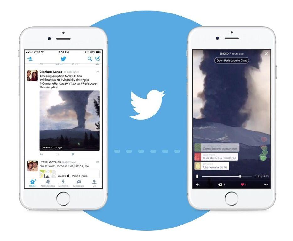 Трансляции Periscope начнут встраиваться в твиты