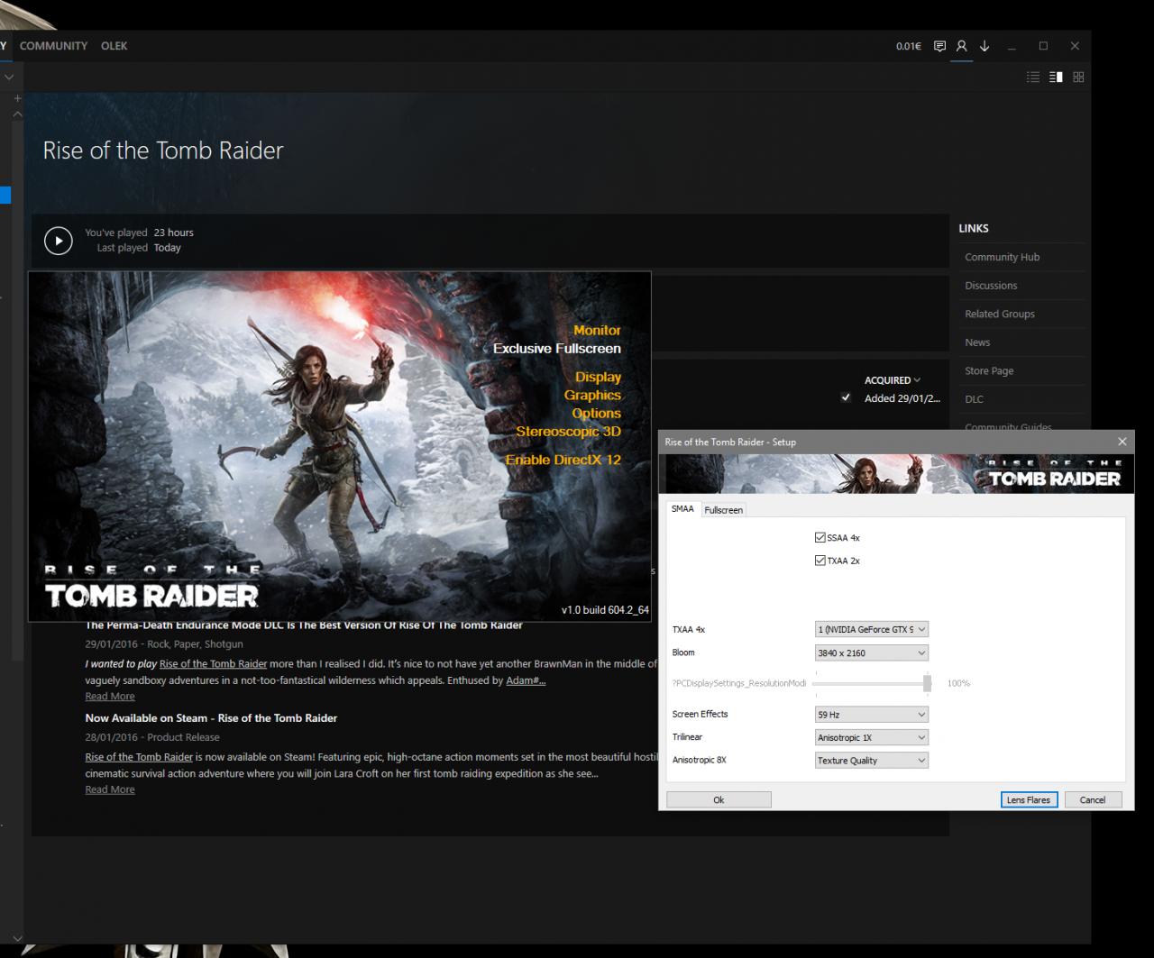 Rise of the Tomb Raider для PC может получить поддержку DirectX 12