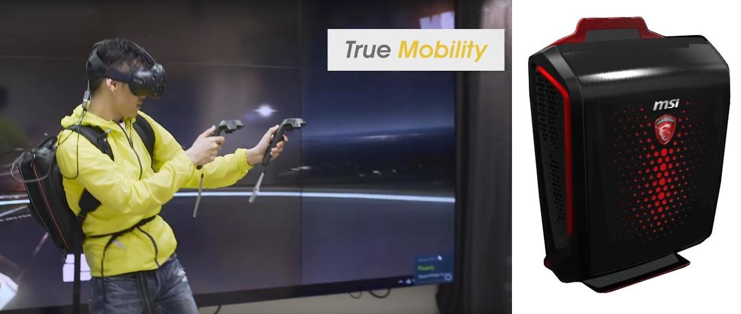 HP разработала компьютер-рюкзак для виртуальной реальности