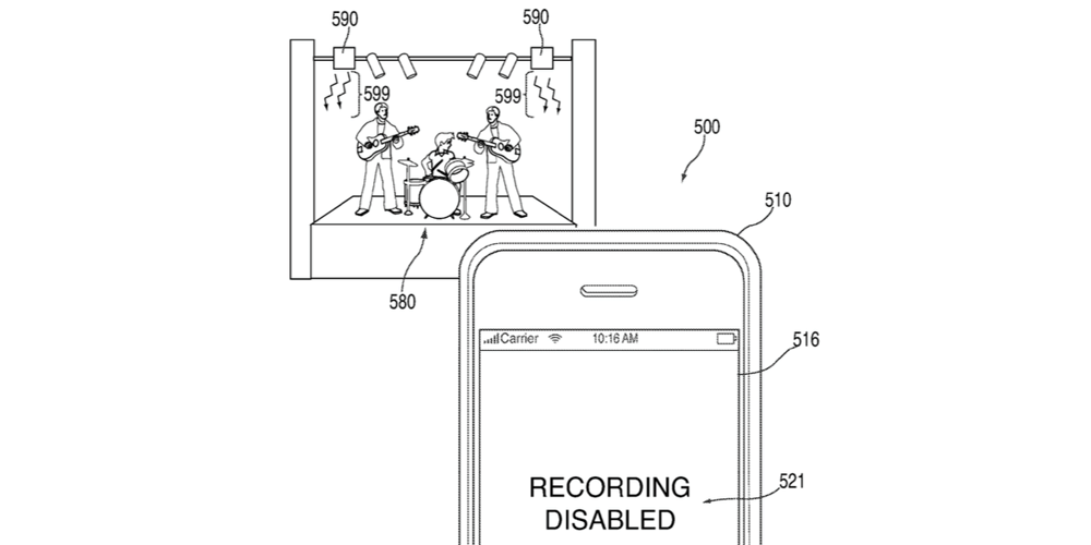 Apple запатентовала блокировку съемки концертов на iPhone и iPad