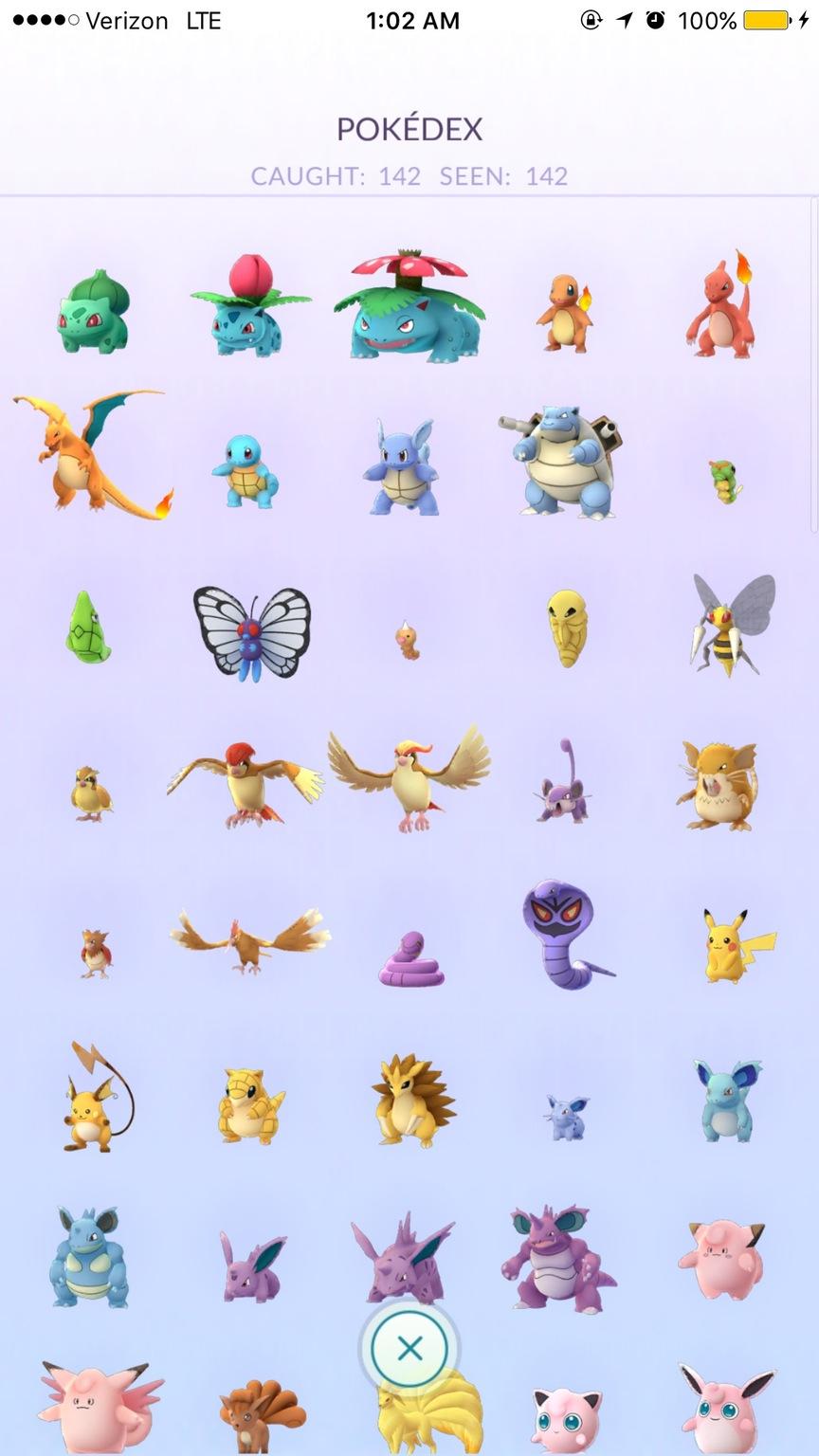 Американец поймал всех доступных покемонов Pokemon GO