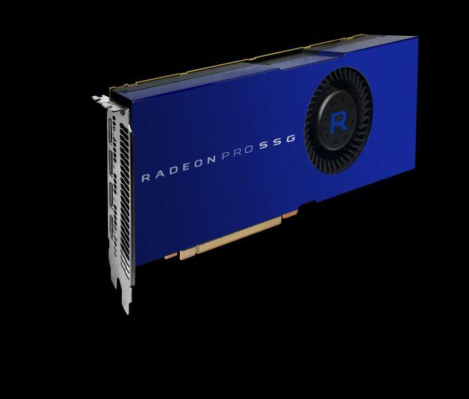 AMD представила видеокарту Radeon Pro SSG со слотами для SSD на борту