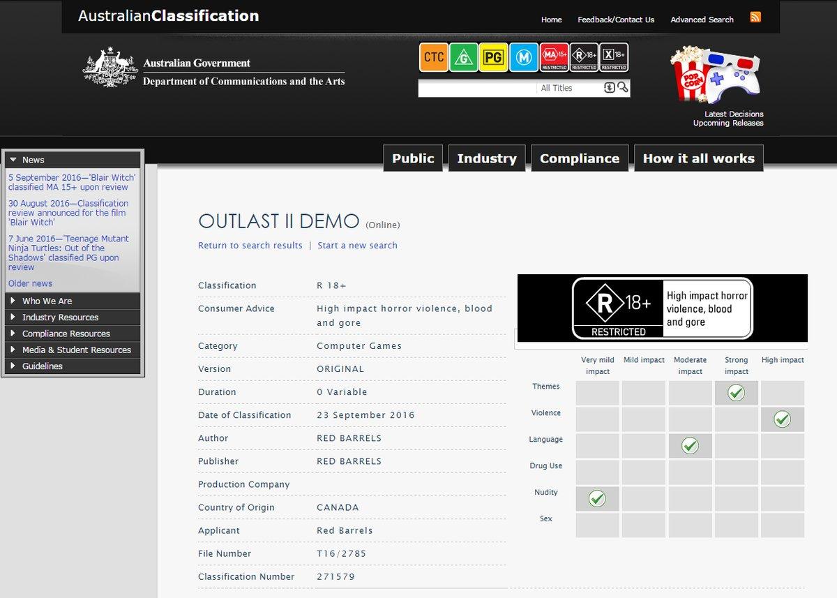 Outlast II получит демо-версию