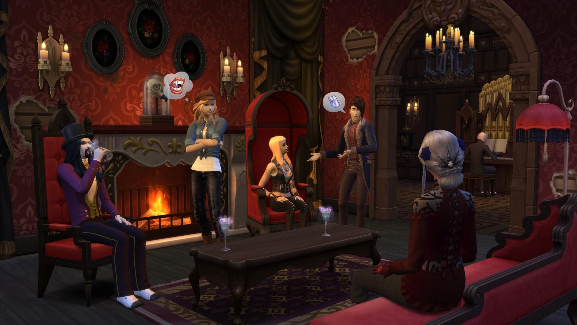 The Sims 4 теперь с вампирами