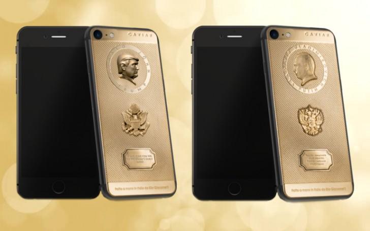 iPhone 7 с Владимиром Путиным и Дональдом Трампом