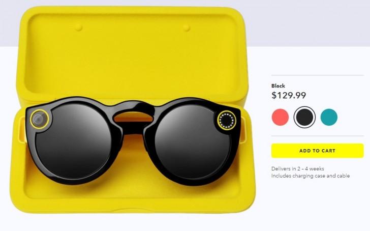 Очки Snapchat Spectacles доступны для покупки онлайн