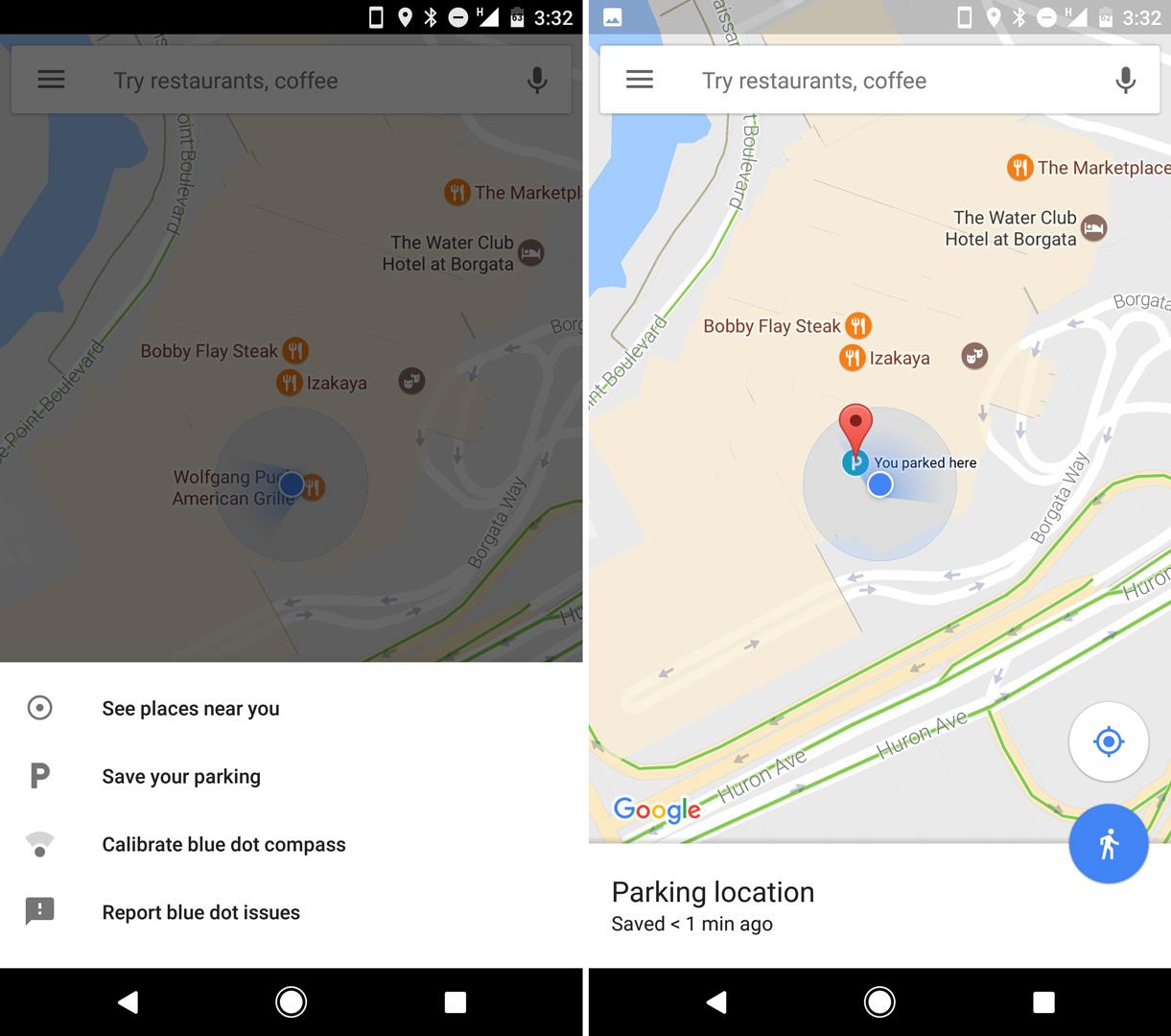 Google Карты научились сохранять парковочное место