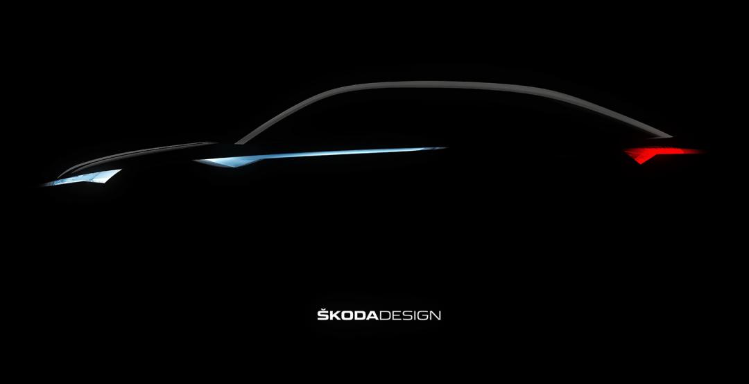Skoda представила тизер своего нового кроссовера Vision E