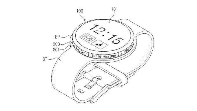 Будущие Samsung Gear могут получить вращающийся безель со встроенным экраном