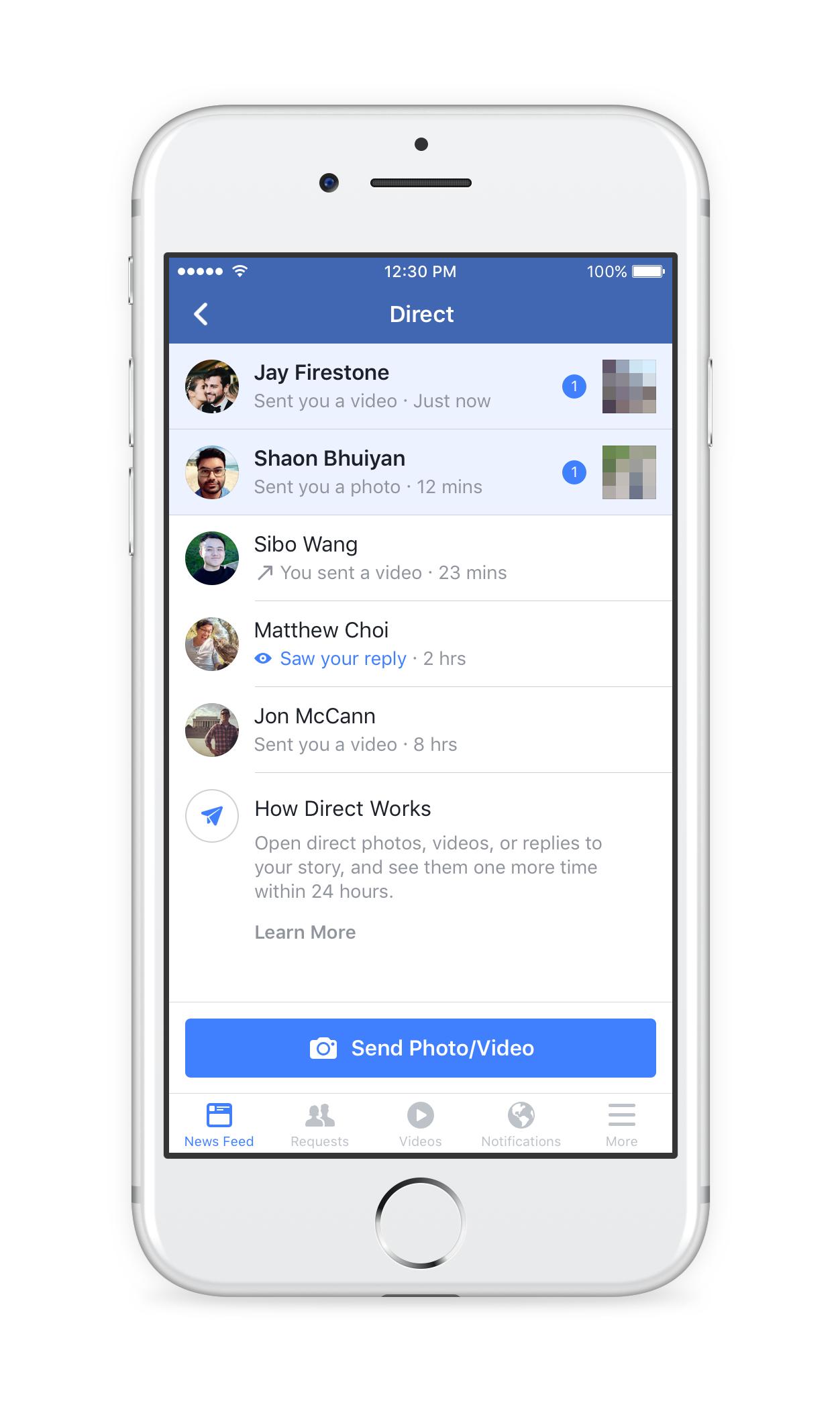 Facebook запускает самоуничтожающиеся Истории и личные сообщения