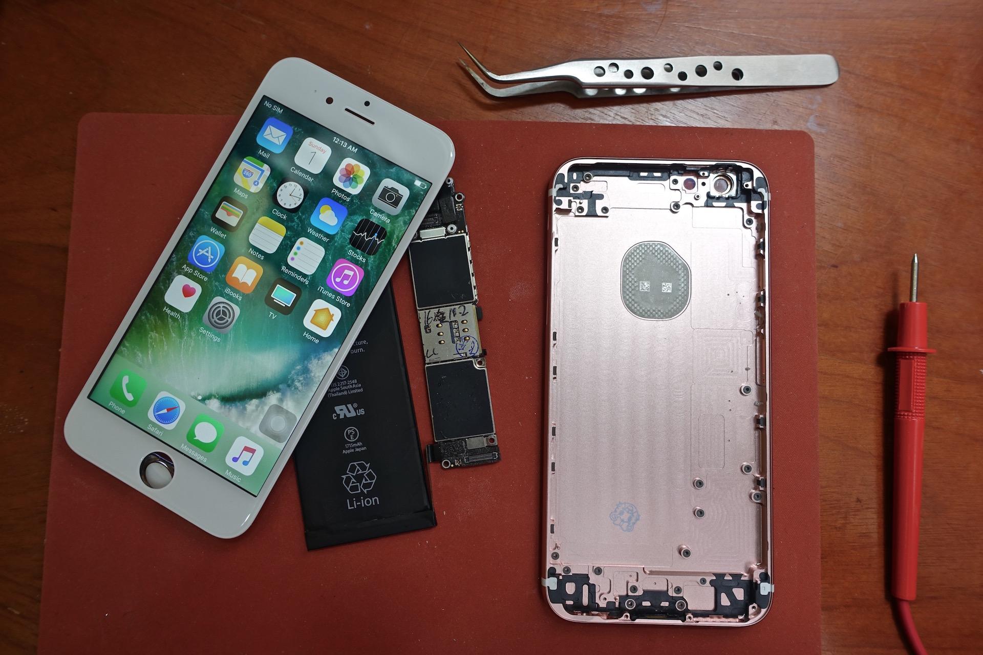 энтузиаст самостоятельно собрал рабочий iphone запчастей