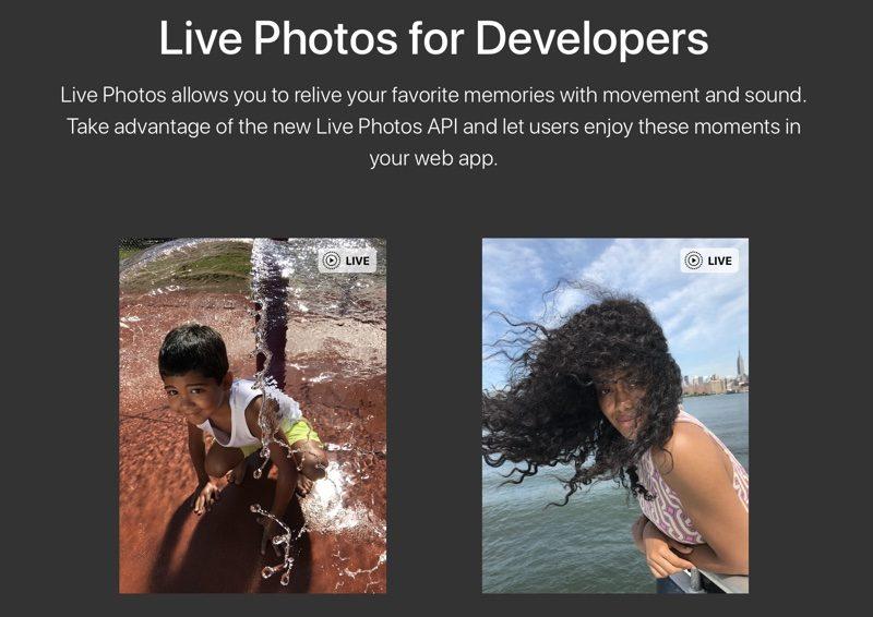 Apple разрешила показывать Live Photos на сайтах