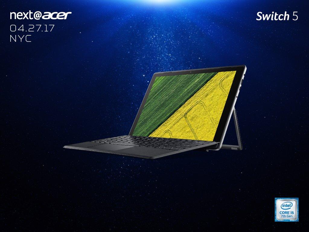 Acer представила мощный гибридный планшет Swift 5 и недорогой Swift 3