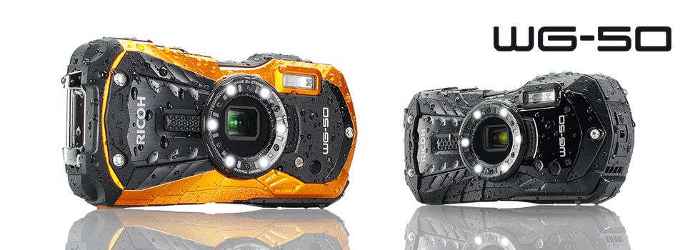 Прочная камера Ricoh WG-50 не боится воды и морозов