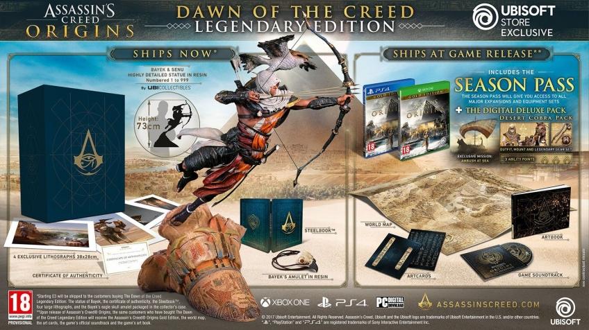 За коллекционное издание Assassin's Creed: Origins попросят 799 долларов