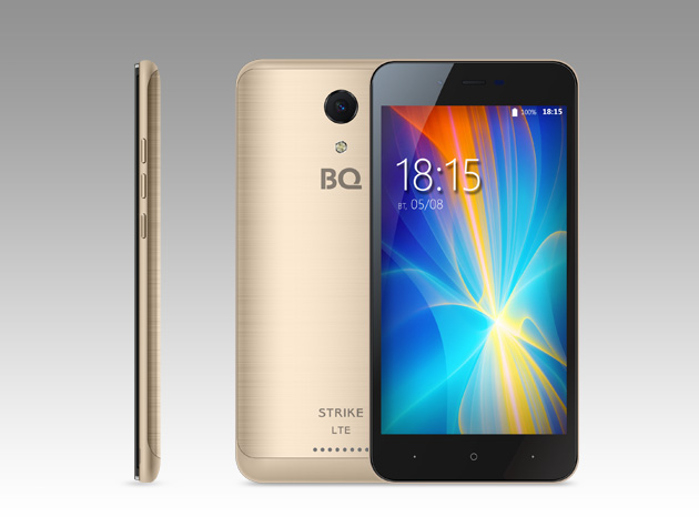 Яркий смартфон BQ-5044 Strike с LTE оценен дешевле 6 тысяч рублей