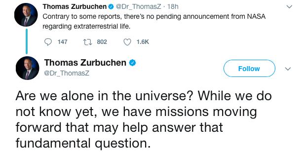 NASA опровергло слухи об открытии инопланетной жизни