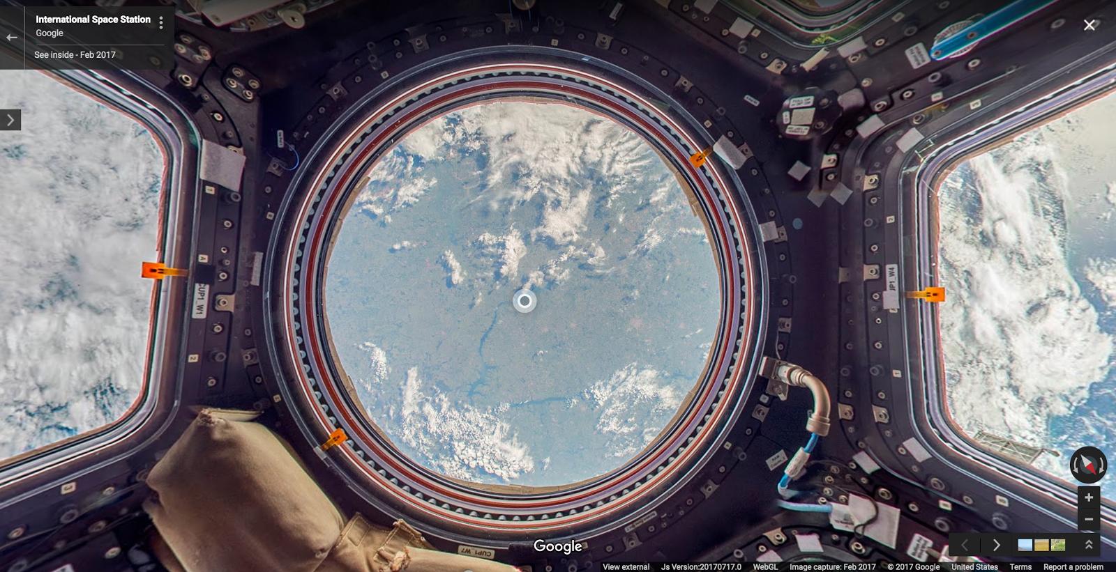 Google и NASA запустили виртуальную экскурсию по МКС