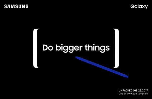 Samsung официально подтвердила, что Galaxy Note 8 покажут 23 августа