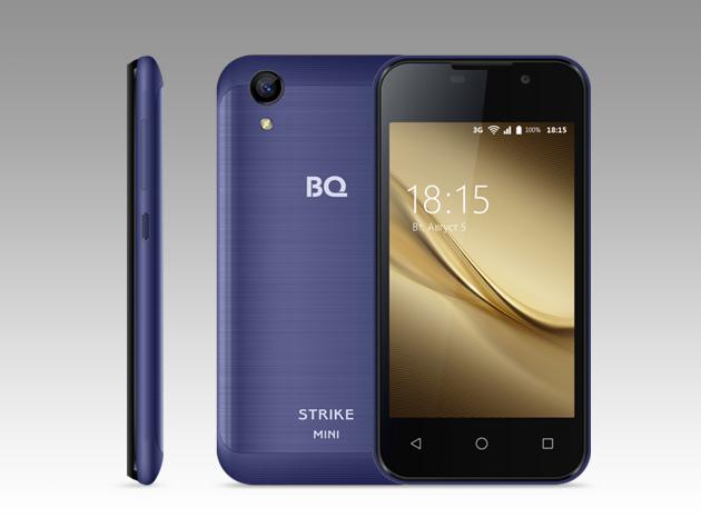 Компактный смартфон BQ Strike Mini оценен дешевле 3 тысяч рублей