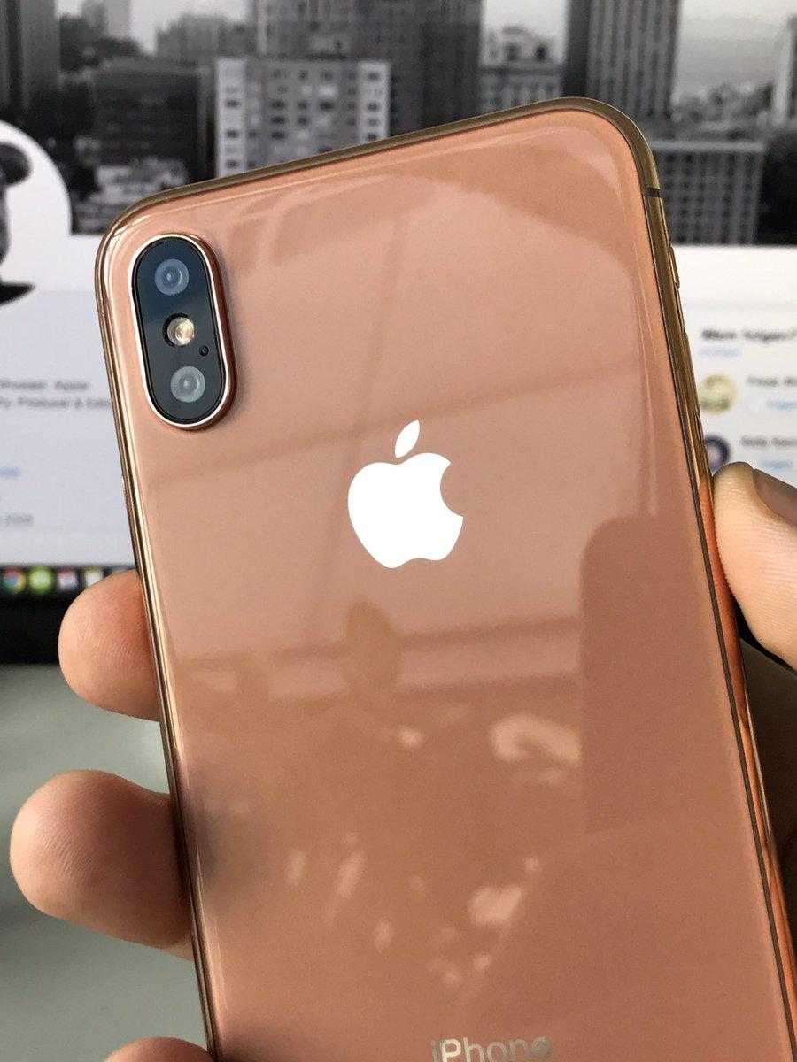 Медный iPhone 8 показался на живых фото и видео