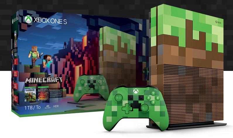 Microsoft представила Xbox One S в стиле Minecraft