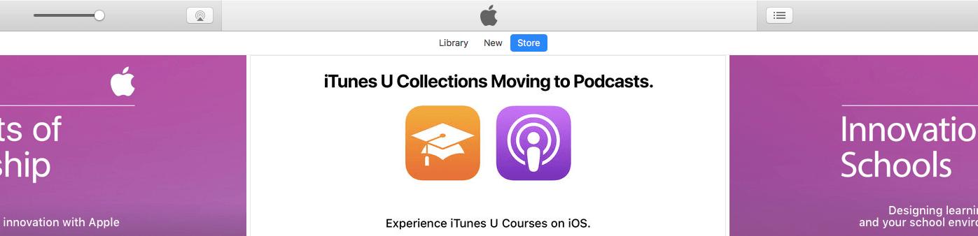 Apple спрячет iTunes U в подкастах