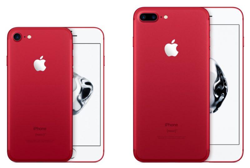 Apple прекратила продажи красных  iPhone 7 и 7 Plus