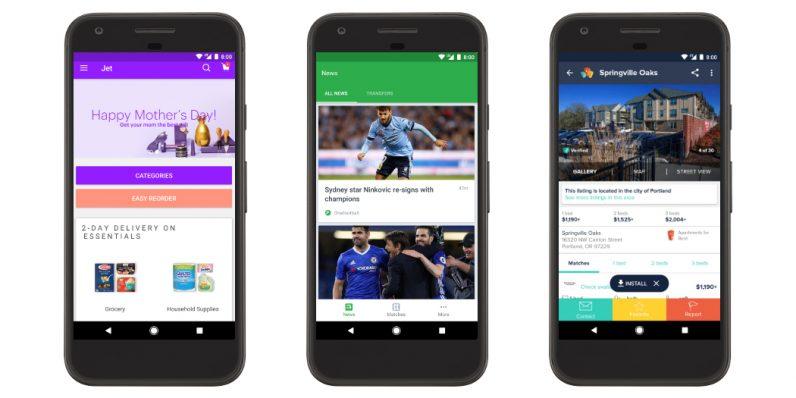 Google Play позволяет запускать Android-приложения без установки