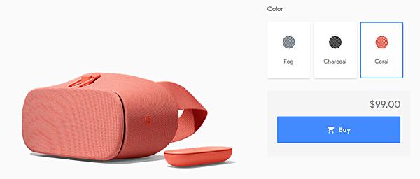 Обновленный шлем виртуальной реальности Google Daydream View поступил в продажу