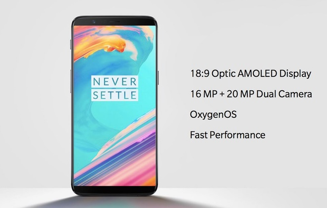 Безрамочный Oneplus 5T представлен официально