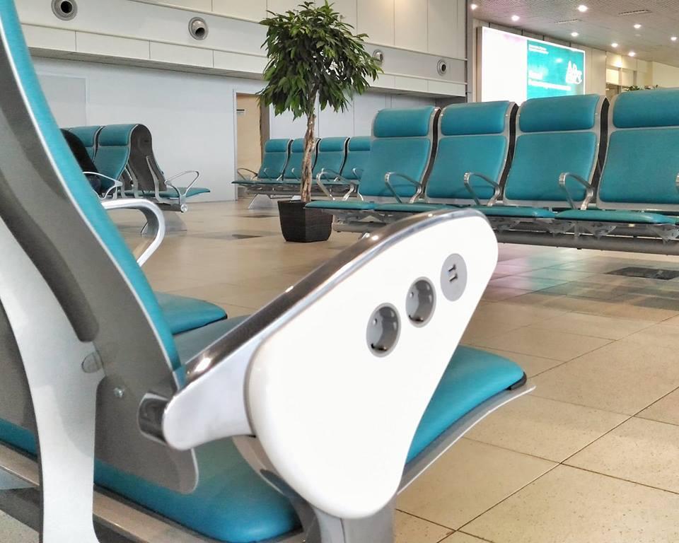 В Домодедово установлены кресла для зарядки гаджетов