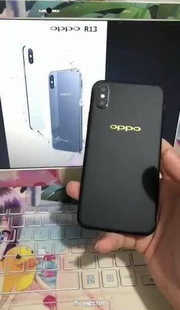 Oppo R13 в стиле iPhone X показался на фото