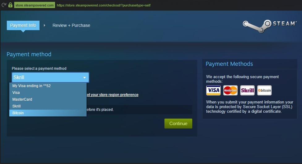Steam перестал принимать биткоины