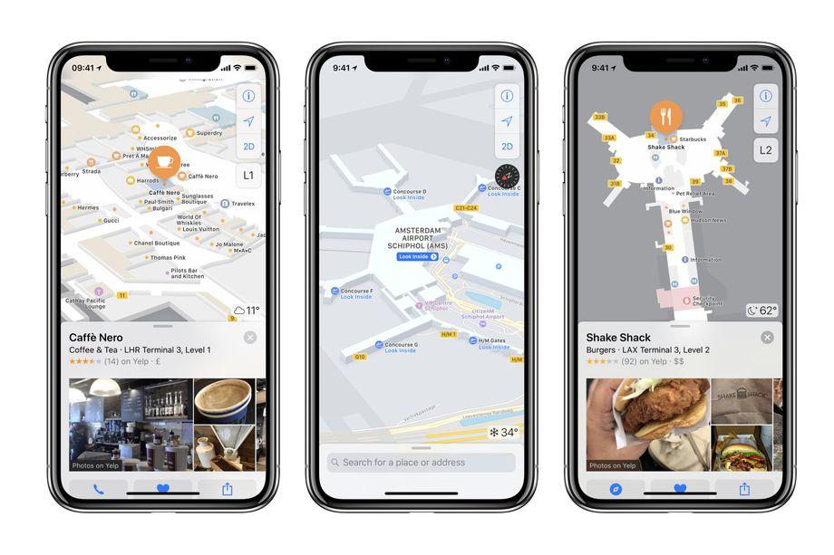 Apple добавила в Карты навигацию более чем по 40 аэропортам и торговым центрам