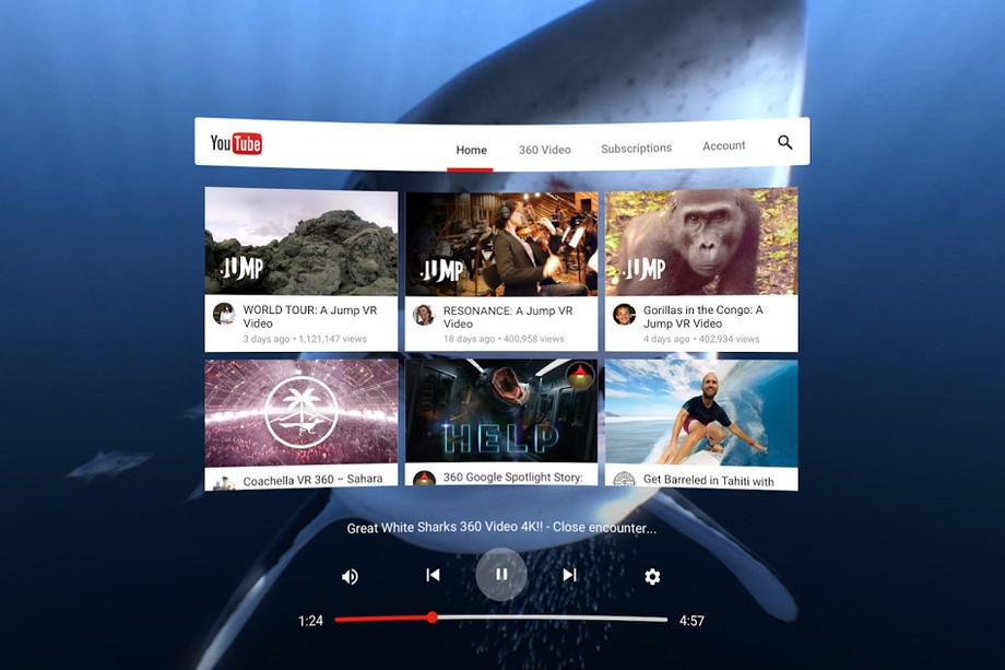 Google выпустил YouTube VR для Steam