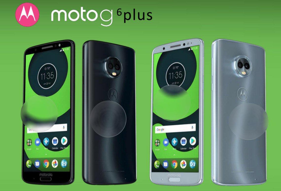 Безрамочные смартфоны Moto G6, Moto G6 Plus и Moto G6 Play показались на рендере