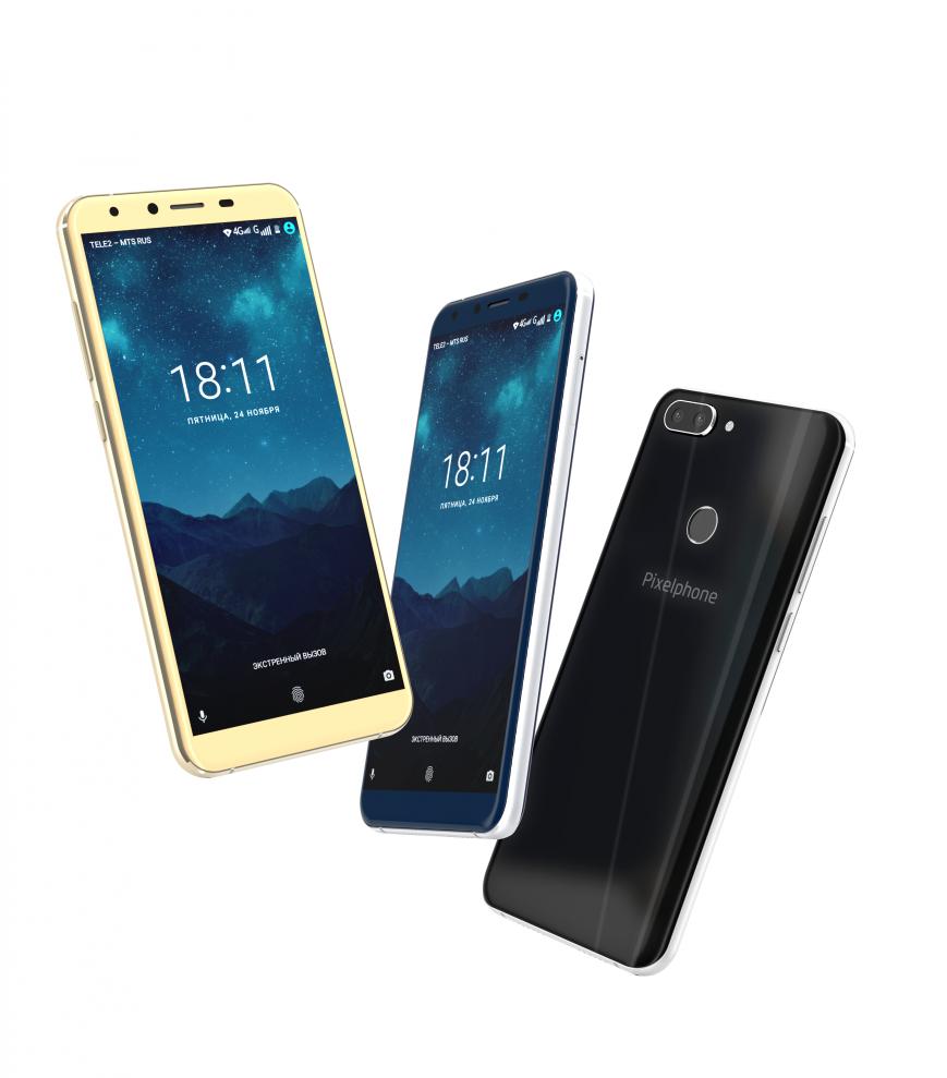Российский безрамочный смартфон Pixelphone M1 вышел в продажу