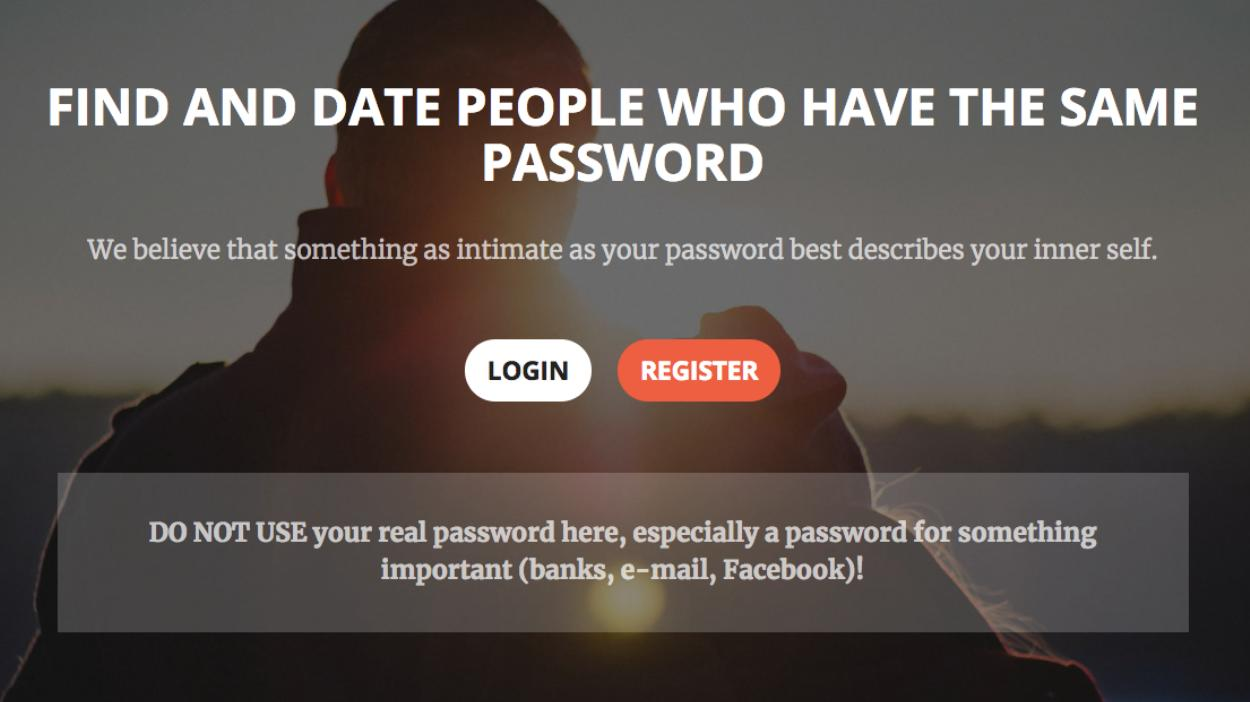 Запущен сервис знакомств для пользователей с одинаковыми паролями