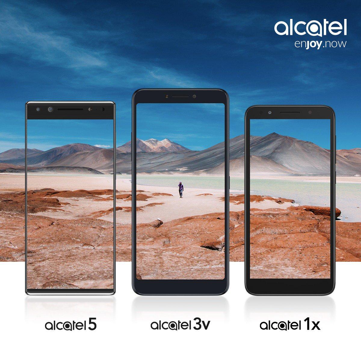 Анонс смартфонов Alcatel 5, Alcatel 3v и Alcatel 1x назначен на 24 февраля